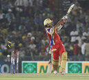 Cheteshwar Pujara was bowled by MS Gony for 51, Kings XI Punjab v Royal Challengers Bangalore, IPL 2013, Mohali, May 6, 2013