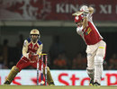 David Hussey drives a ball through the offside, Kings XI Punjab v Royal Challengers Bangalore, IPL 2013, Mohali, May 6, 2013