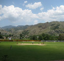 The Pakistan players play a practice game at Abbottabad