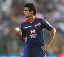 Siddarth Kaul was impressive with the new ball, Rajasthan Royals v Delhi Daredevils, IPL, Jaipur, May 7, 2013