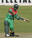 Shakib Al Hasan about to hit to the leg side