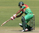 Mahmudullah plays one square, Zimbabwe v Bangladesh, 3rd ODI, Bulawayo, May 8, 2013