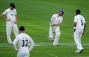 Chris Rogers was struck a painful blow, Warwickshire v Middlesex, County Championship, Division One, Edgbaston, 1st day, May 8, 2013