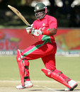 Hamilton Masakadza plays to the leg side, Zimbabwe v Bangladesh, 3rd ODI, Bulawayo, May 8, 2013