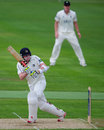 Sam Robson clips off his legs, Warwickshire v Middlesex, County Championship, Division One, Edgbaston, 1st day, May 8, 2013