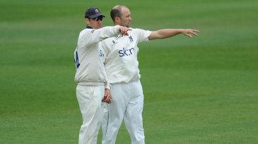 Jim Troughton had to call on Jonathan Trott's bowling