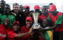 The Zimbabwe team celebrate their series win