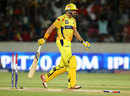 Michael Hussey was bowled by Thisara Perera for 67, Sunrisers Hyderabad v Chennai Super Kings, IPL 2013, Hyderabad, May 8, 2013