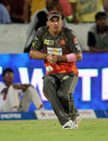 Dale Steyn drops a catch off MS Dhoni, Sunrisers Hyderabad v Chennai Super Kings, IPL 2013, Hyderabad, May 8, 2013