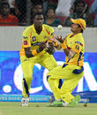 S Badrinath juggles to hold on to a catch to dismiss Thisara Perera, Sunrisers Hyderabad v Chennai Super Kings, IPL 2013, Hyderabad, May 8, 2013