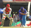 Rahul Dravid is bowled by Bipul Sharma