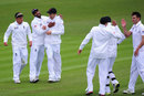 England Lions celebrate the dismissal of Kane Williamson, England Lions v New Zealanders, Tour match, Grace Road, 1st day, May 9, 2013