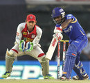 Sanju Samson drives through the off side