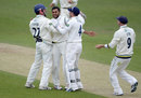 Adil Rashid struck twice in two balls, Yorkshire v Somerset, County Championship, Division One, Headingley, 3rd day, May 9, 2013