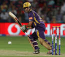 Gautam Gambhir guides a ball to third man, Pune Warriors v Kolkata Knight Riders, IPL 2013, Pune, May 9, 2013