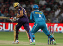 Mahesh Rawat's quick work behind the stumps accounts for Manvinder Bisla's wicket, Pune Warriors v Kolkata Knight Riders, IPL 2013, Pune, May 9, 2013