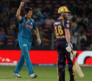Mitchell Marsh is exultant after dismissing Eoin Morgan