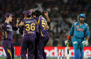 L Balaji and team-mates celebrate after getting rid of Yuvraj Singh, Pune Warriors v Kolkata Knight Riders, IPL 2013, Pune, May 9, 2013