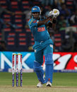 Angelo Mathews slams a shot through the offside, Pune Warriors v Kolkata Knight Riders, IPL 2013, Pune, May 9, 2013