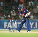 Mahela Jayawardene was bowled by Jaydev Unadkat for 19, Delhi Daredevils v Royal Challengers Bangalore, IPL 2013, Delhi, May 10, 2013