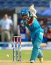 Robin Uthappa drives down the ground, Pune Warriors v Mumbai Indians, IPL, Pune, May 11, 2013