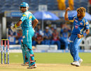 Lasith Malinga exults after picking up Robin Uthappa, Pune Warriors v Mumbai Indians, IPL, Pune, May 11, 2013