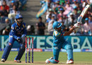 Manish Pandey hits over mid wicket, Pune Warriors v Mumbai Indians, IPL, Pune, May 11, 2013