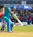 Yuvraj Singh hits to the off side, Pune Warriors v Mumbai Indians, IPL, Pune, May 11, 2013