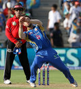 Glenn Maxwell drops a return catch, Pune Warriors v Mumbai Indians, IPL, Pune, May 11, 2013