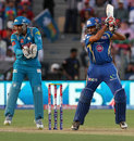 Rohit Sharma plays one square, Pune Warriors v Mumbai Indians, IPL, Pune, May 11, 2013