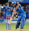Rohit Sharma attempting a big hit, Pune Warriors v Mumbai Indians, IPL, Pune, May 11, 2013