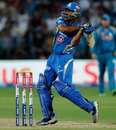 Ambati Rayudu hits one to the off side, Pune Warriors v Mumbai Indians, IPL, Pune, May 11, 2013