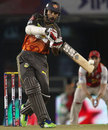 Shikhar Dhawan top-edges a rising delivery, Kings XI Punjab v Sunrisers Hyderabad, IPL, Mohali, May 11, 2013