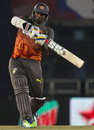 Thisara Perera bludgeons one to the boundary, Kings XI Punjab v Sunrisers Hyderabad, IPL, Mohali, May 11, 2013