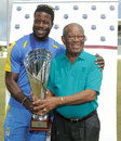 Kirk Edwards with Everton Weekes, Barbados v Trinidad & Tobago, Regional Four Day Competition - Final, Bridgetown, May 11, 2013