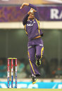 Sunil Narine in his delivery stride