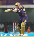 Jacques Kallis cuts to the off side, Kolkata Knight Riders v Royal Challengers Bangalore, IPL, Ranchi, May 12, 2013