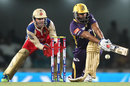 Yusuf Pathan sweeps to the leg side, Kolkata Knight Riders v Royal Challengers Bangalore, IPL, Ranchi, May 12, 2013