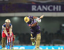 Manoj Tiwary hits down the ground, Kolkata Knight Riders v Royal Challengers Bangalore, IPL, Ranchi, May 12, 2013