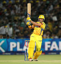 Michael Hussey smacks a ball through the onside, Rajasthan Royals v Chennai Super Kings, IPL 2013, Jaipur, May 12, 2013