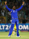 Kevon Cooper dismissed for Suresh Raina for 1, Rajasthan Royals v Chennai Super Kings, IPL 2013, Jaipur, May 12, 2013