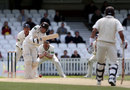 Rory Burns clips back down the pitch on his way to 38, Surrey v Durham, County Championship, Division One, The Oval, 3rd day, May 12, 2012