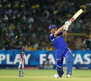 James Faulkner is bowled by Jason Holder, Rajasthan Royals v Chennai Super Kings, IPL 2013, Jaipur, May 12, 2013