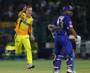 Chris Morris is ecstatic after dismissing Rahul Dravid, Rajasthan Royals v Chennai Super Kings, IPL 2013, Jaipur, May 12, 2013