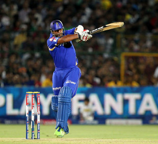 Stuart Binny plays a pull shot, Rajasthan Royals v Chennai Super Kings, IPL 2013, Jaipur, May 12, 2013