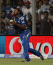 Ambati Rayudu drops a chance off Cameron White, Mumbai Indians v Sunrisers Hyderabad, IPL 2013, Mumbai, May 13, 2013