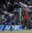 Cameron White hits a powerful shot, Mumbai Indians v Sunrisers Hyderabad, IPL 2013, Mumbai, May 13, 2013