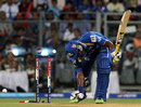 Dwayne Smith was bowled by Ishant Sharma, Mumbai Indians v Sunrisers Hyderabad, IPL 2013, Mumbai, May 13, 2013