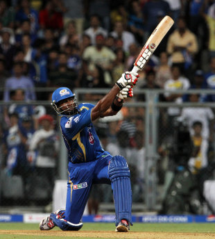 Kieron Pollard smashed an unbeaten 66 off 27 balls to take Mumbai Indians to a seven-wicket win over Sunrisers Hyderabad