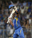 Kieron Pollard is ecstatic after scoring the winning runs, Mumbai Indians v Sunrisers Hyderabad, IPL 2013, Mumbai, May 13, 2013